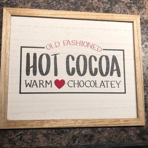 Hot Chocolate wooden Sign